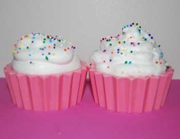 buttercream cupcake soap