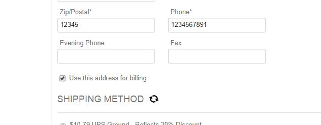 box to change billing address