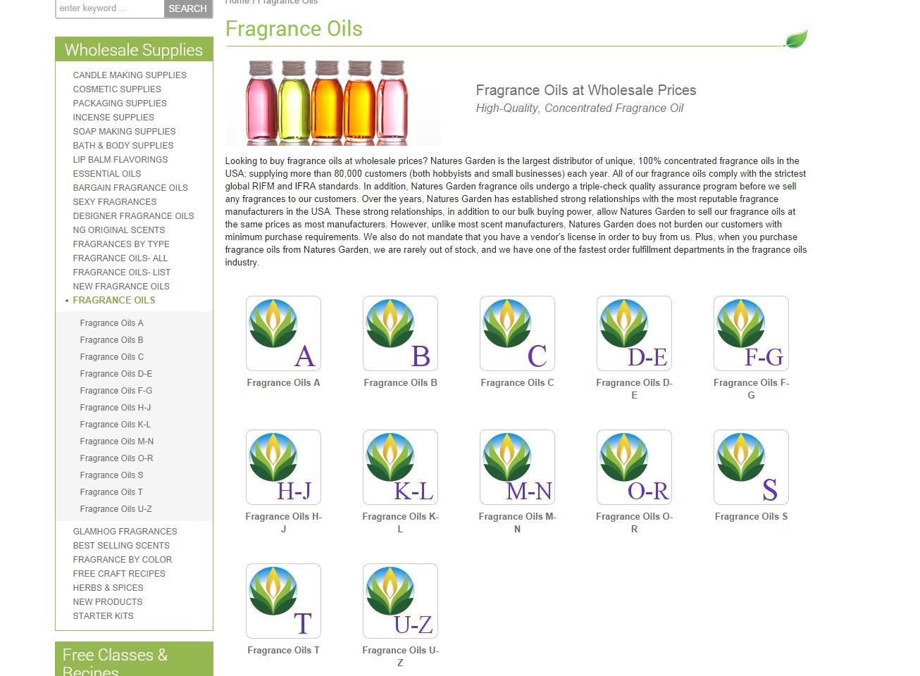 fragrance oils a-z