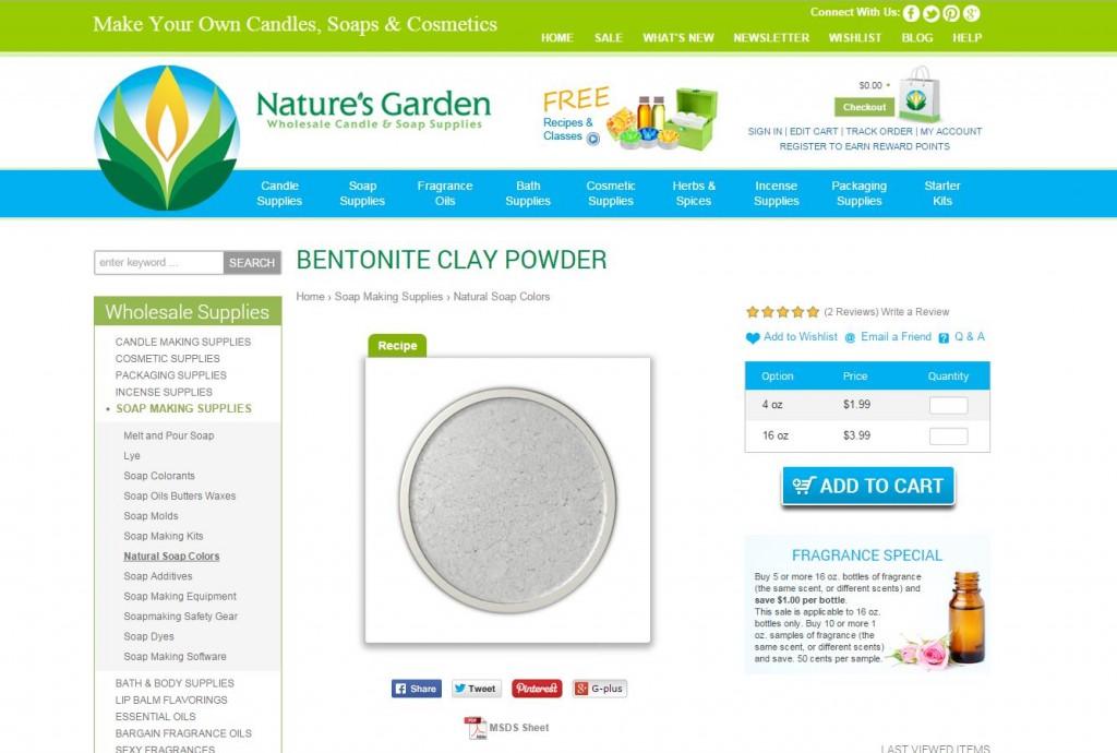 bentonite clay page
