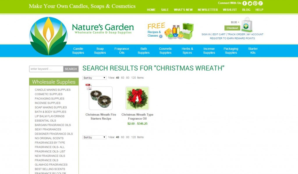 christmas wreath results
