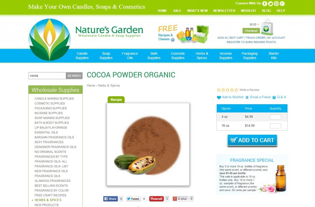 cocoa powder page