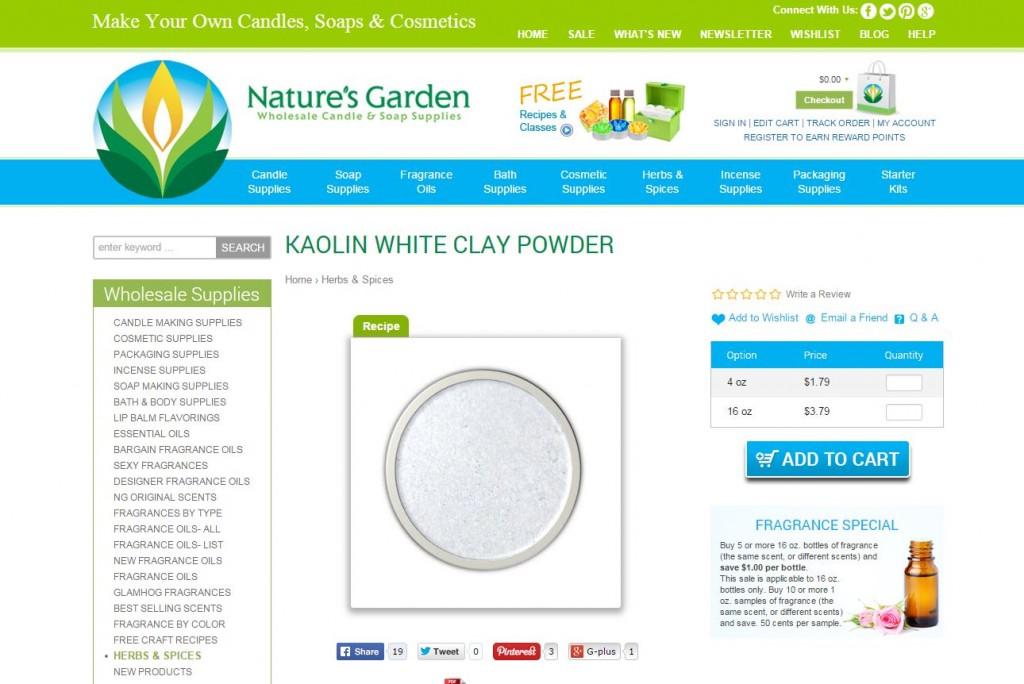 kaolin clay page