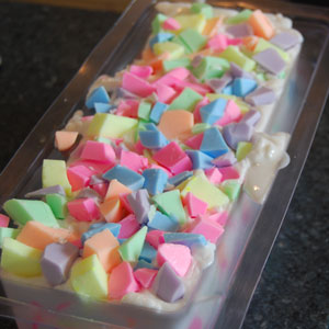 easter confetti soap